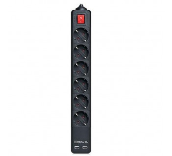 Фильтр Real-el rs-6 protect usb (EL122300017)